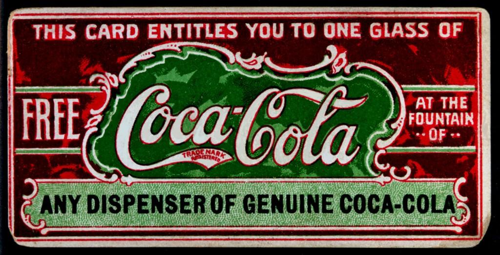 coca-cola, el primer cupón de descuento de la historia